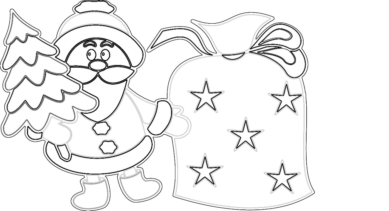 bilder zum ausmalen weihnachtsmann